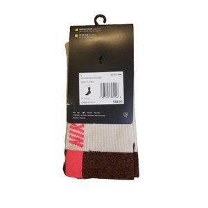 Nike Multiplier Socks Crew Womens L Rust White